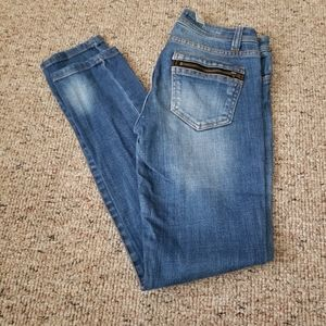 Life In Progress Skinny Jeans Zippered Pockets 24